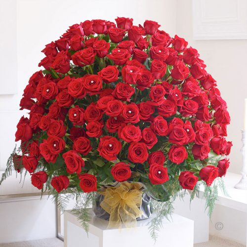 Wedding Flowers Cambridge: Wow! 200 Red Rose Arrangement