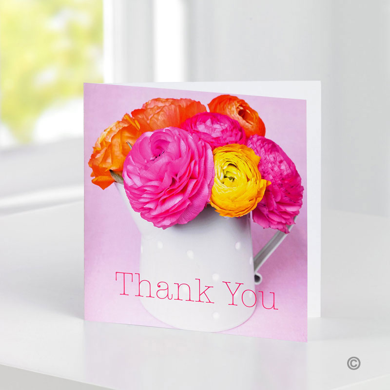 Wedding Flowers Cambridge: Greetings Card - Thankyou